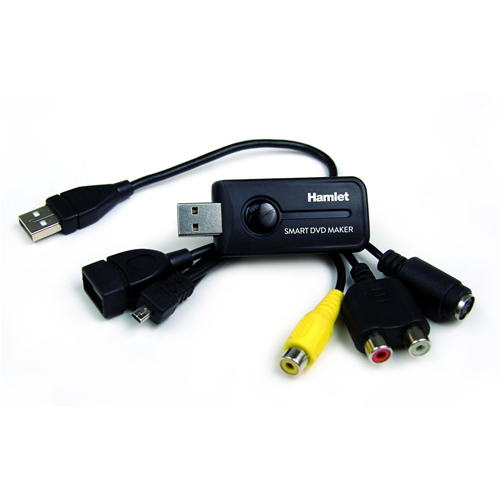 Hamlet Convertitore di Filmati Audio Video Videocassette VHS su DVD Hard Disk USB 2.0 DVD Maker Nero