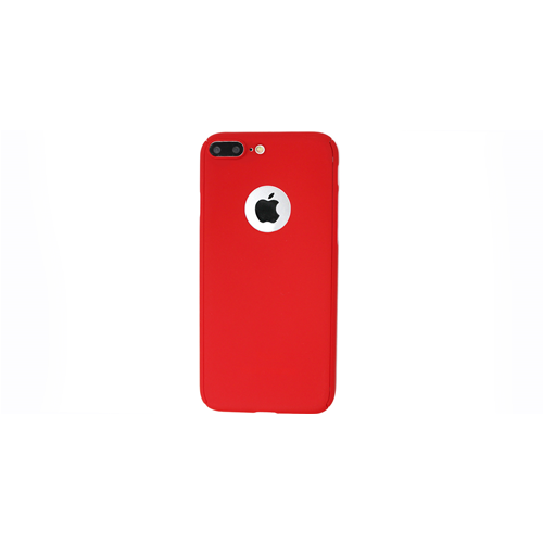 Custodia Fronte Retro 360° iPhone 7 Plus Rosso + Vetro Temperato