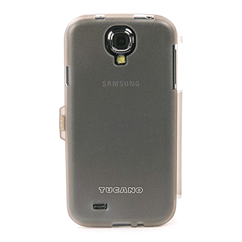 "Book Cover Custodia a Libro ""Pronto"" Booklet Samsung Galaxy S4 Trasparente Case Originale"