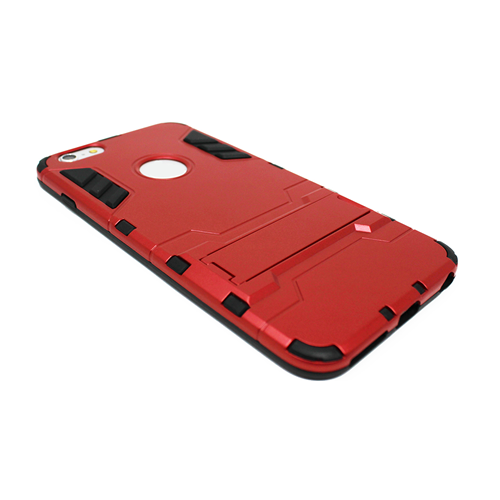 "Custodia Posteriore iPhone 6 Plus 5.5"" Back Cover Stand Rigida Rosso"