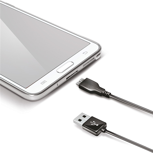 Celly Cavo Dati USB / Micro USB 3.0 per Samsung Galaxy S5 Note 3 Nero