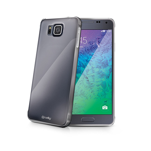 Celly Custodia Posteriore Samsung Galaxy Alpha Soft Cover Grigio Smoke