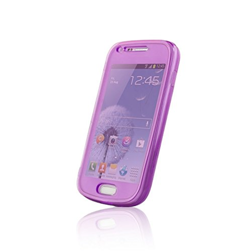Custodia per iPhone 4 4s Cover in Morbido Silicone Flip Wallet Viola