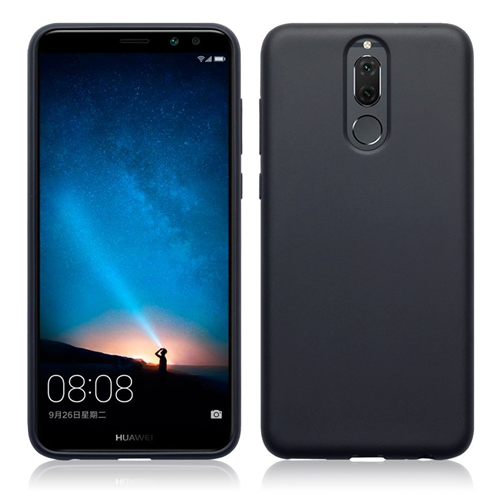 Custodia Huawei Mate 10 Lite Cover Matt in Silicone Flessibile Nero
