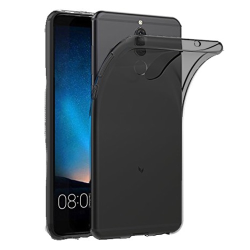 Custodia per Huawei Mate 10 Lite Ultra Slim 0,3 mm Nero Trasparente in Silicone