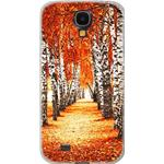 Custodia Posteriore per Samsung Galaxy S4 Back Soft Cover Morbida Grafica Autunno