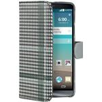 Celly Custodia per LG G3 Dandy Pied De Poule Flip Wallet Nero Grigio