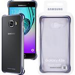 Samsung Custodia Galaxy A3 2016 A310 EF-QA310CBEGWW Clear Back Cover  Trasparente / Nero Originale