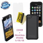 Otterbox per iPhone 5 5s SE Custodia Reflex Series Back Cover Nero + Pellicola Antigraffio Originali