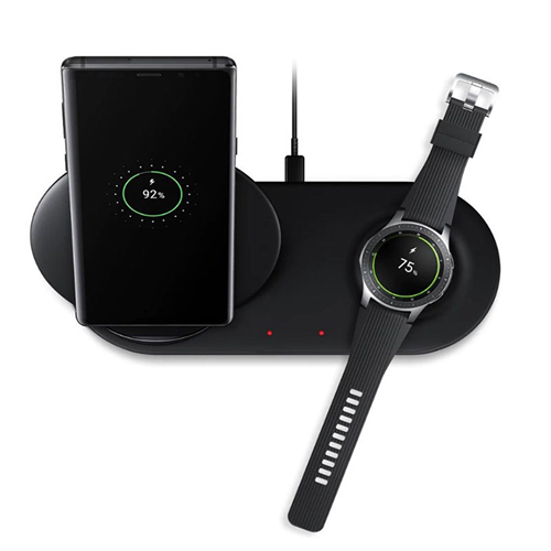 Samsung Caricabatteria Wireless Duo EP N6100TBE Fast Charge Originale Nero Galaxy S8 S8+ S9 S9+ Note 8 9 Galaxy Watch Gear S3 Gear Sport (UNIVERSALE