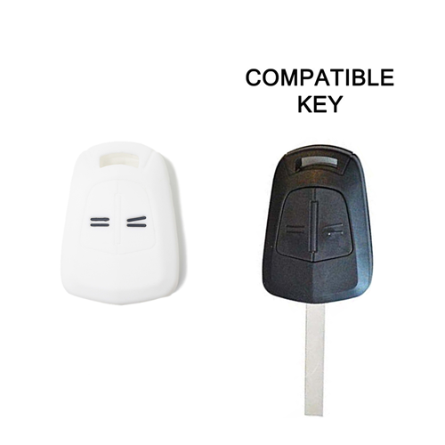 Guscio in Silicone Cover Chiave per Telecomando Opel Corsa Agila Astra 2 Tasti