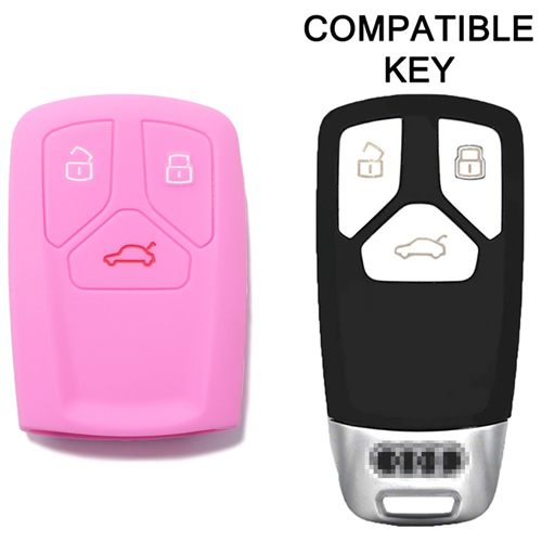 Guscio in Silicone Cover Chiave Telecomando Keyless-Entry Audi A4 A5 A7 A8 B9 C8