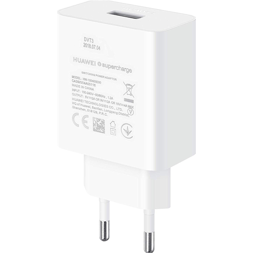 Huawei Caricabatterie CP84 Super Charge Type C Mate 20 P20 Originale Bianco