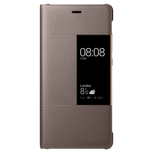 Huawei Custodia per P9 Plus Originale S View Cover Marrone in Bulk