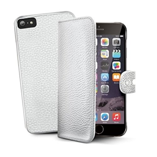 Celly Custodia iPhone 6 6s Plus 5.5 Wallet con Cover Staccabile Bianco