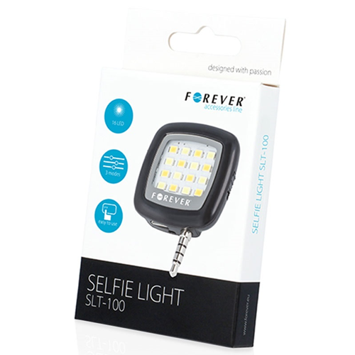 Selfie Light Luce LED Forever Flash per Foto Selfie Attacco Jack 3.5 mm Autoscatti da Cellulari e Tablet