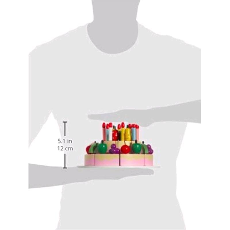 Gioco Cucina Torta di Compleanno da Tagliare Frutti in Legno per ...